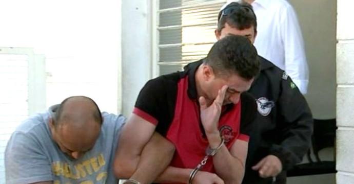 Piá, ex-jogador, Corinthians, detido em Bauru (Foto: Reprodução / TV TEM)