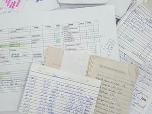 Listas com indícios de possível compra de votos foram encontradas (Foto: Divulgação/Polícia Federal)