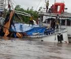 Barco naufraga  e mata 12 na  ilha do Marajó (Fabiano Villela/ TV Liberal)