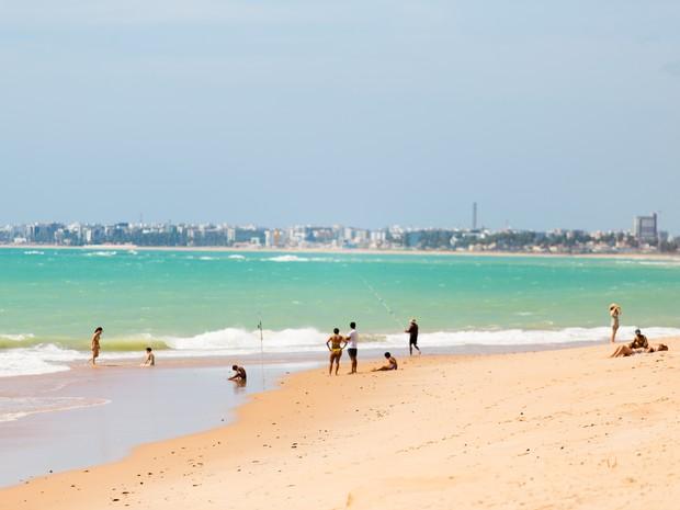 Praia de Guaxuma  (Foto: Jonathan Lins/G1)