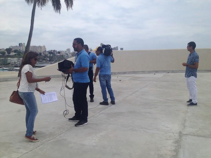 Bastidores Ano-Novo (Foto: TV Bahia)