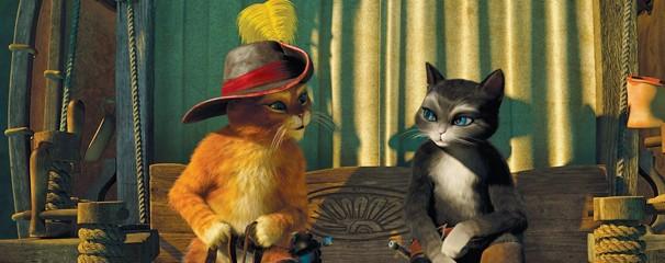 Kitty Pata Mansa conquista o Gato de Botas que nos apresenta seu passado, desde a infância, neste domingo, dia 30 (Foto: Divulgação)