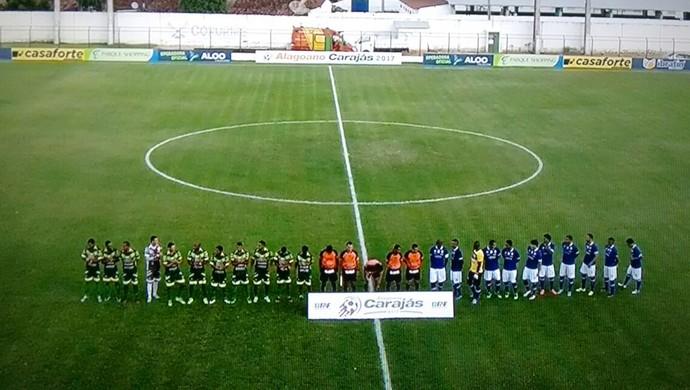 CSA x Sete de Setembro, em Coruripe (Foto: Reprodução TV Gazeta)