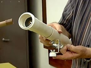 Como montar uma luneta (Foto: Redrodução de TV)