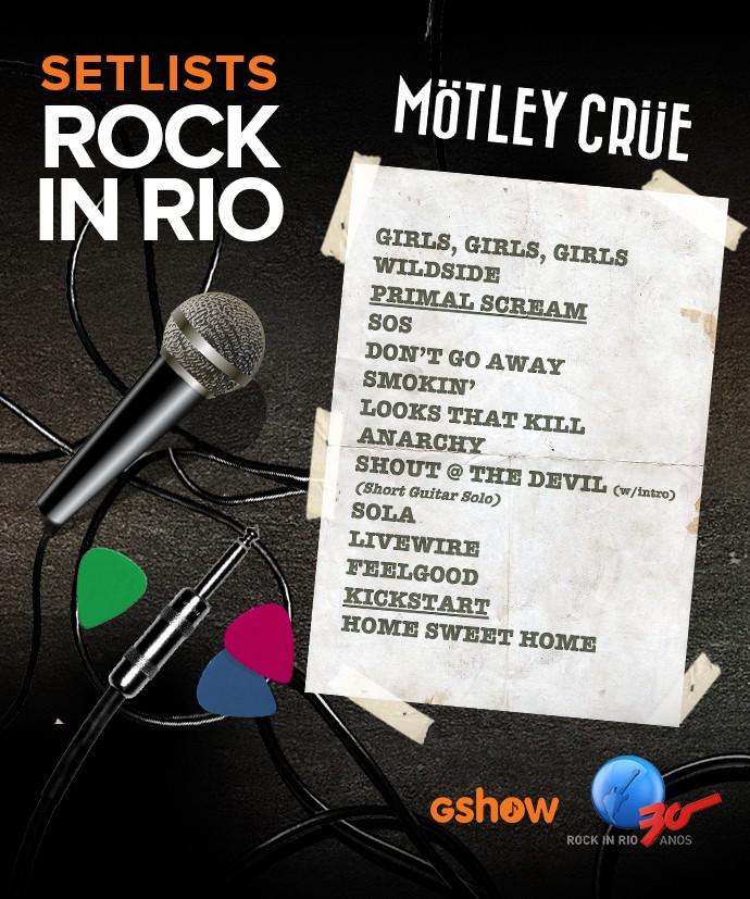 Setlist Mötley Crüe (Foto: Gshow)