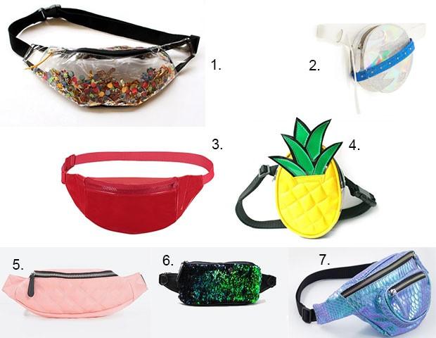 Opções de pochete para você arrasar no Carnaval (Foto: Divulgação)
