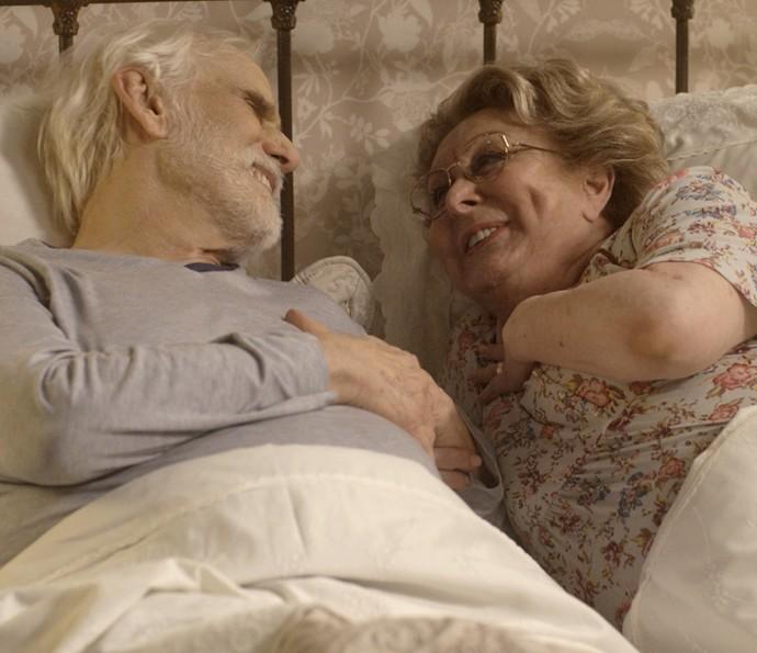 Nonnos se declaram depois de 52 anos juntos (Foto: TV Globo)