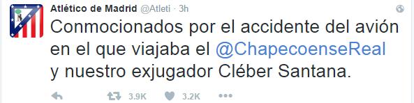 Atletico de Madrid Chapecoense (Foto: Reprodução)