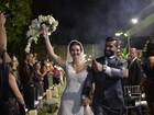 Sem Miguel Falabella como padrinho, Laura Keller se casa no Rio
