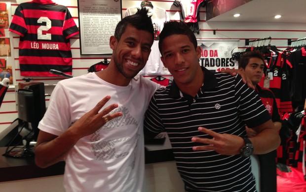 Léo Moura e Nixon Loja Flamengo (Foto: Divulgação)
