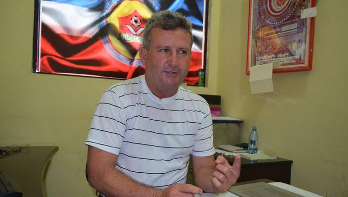 Diretor de futebol do Vilhena, Natalzinho (Foto: Jonatas Boni)
