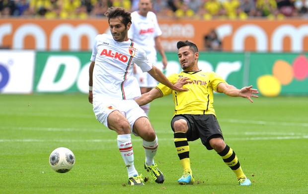 Altintop e Ilkay Augsburg e Borussia Dortumund (Foto: Agência AP)