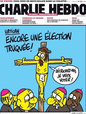 Jornal francês Charlie Hebdo fez diversas sátiras com entidades religiosas (Foto: Reprodução/Charlie Hebdo)