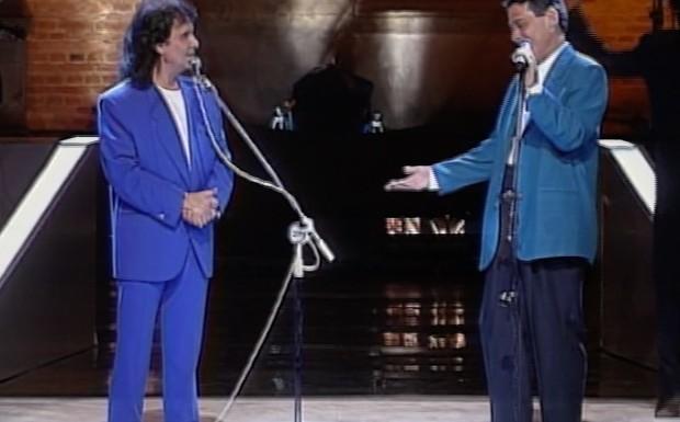 Roberto Carlos e Chico Buarque no Especial de 1993