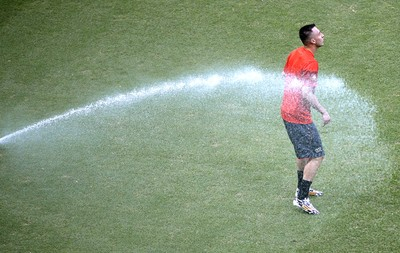 Josip Drmic no treino da Suíça (Foto: AFP)