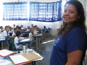 Professora Priscila deu aulas diferentes para os alunos sobre educao ambiental Foto Mariane RossiG1