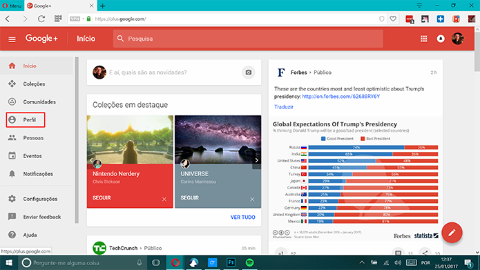 Google Plus agora pode mostrar sua influência na rede social (Foto: Reprodução/Elson de Souza)