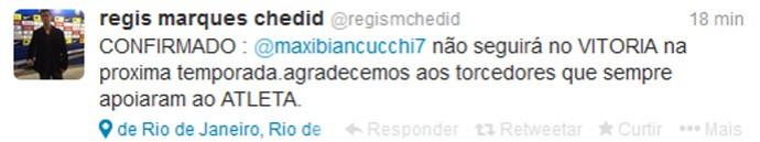 Regis Marques Chedid empresário de Biancucchi (Foto: Reprodução / Twitter)
