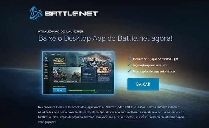 Baixe o Battle.net para instalar StarCraft 2 (Foto: Reprodução/Murilo Molina)