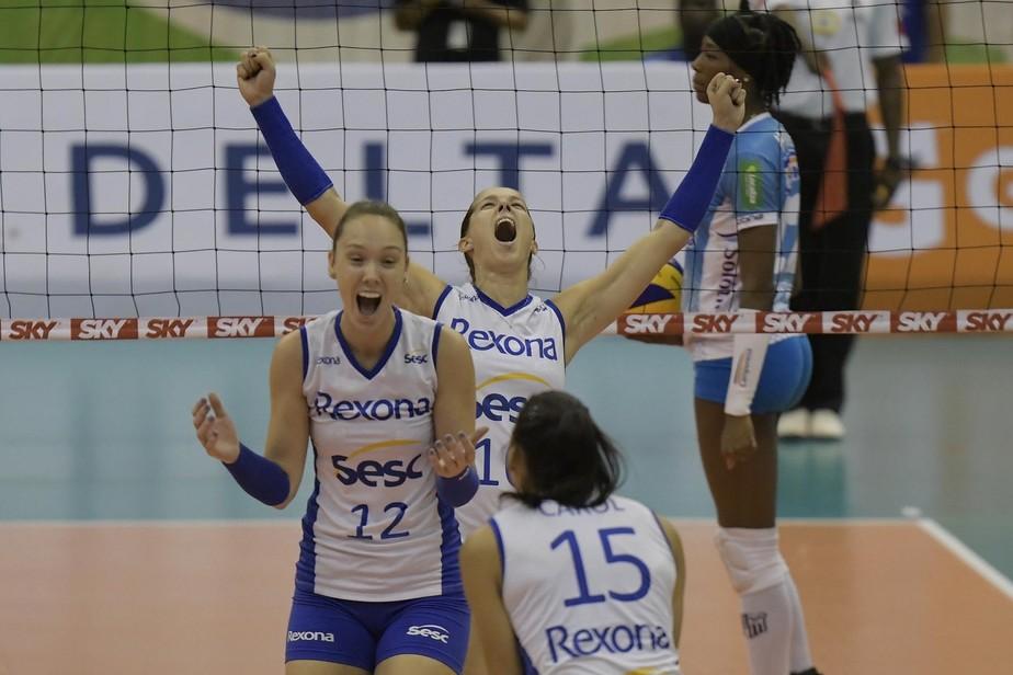 Rio se impõe contra o Minas, fecha a série e avança à 13ª final seguida na Superliga