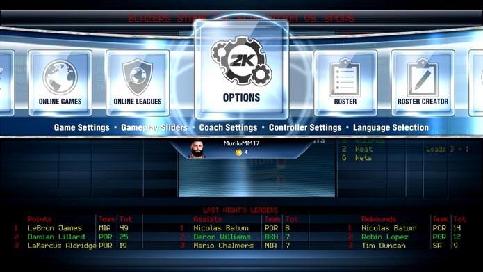 NBA 2K14: como personalizar as regras e dificuldade do game (Foto: Reprodução/Murilo Molina)
