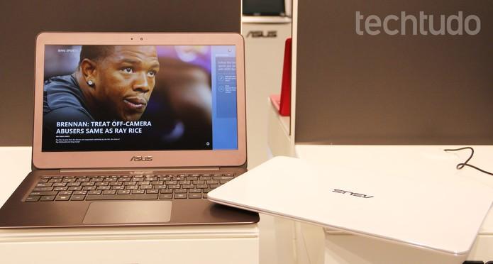 Asus ZenBook UX305 tem display Quad-HD (Foto: Fabrício Vitorino/TechTudo)