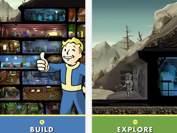 Jogador pode controlar a vida em abrigos nucleares no game 'Fallout shelter'  (Foto: Divulgação)
