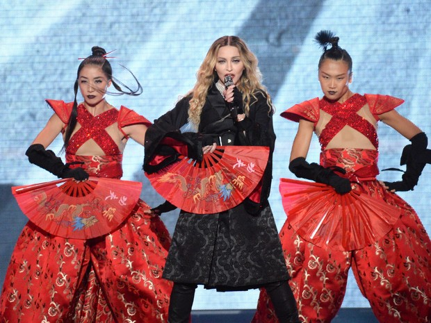 Madonna estreia turnê Rebel heart em Montreal, no Canadá (Foto: Kevin Mazur/ Getty Images)