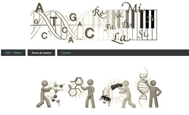 Página do grupo de pesquisa explica o projeto capaz de transformar qualquer música em informações capaz de serem inseridas no DNA. (Foto: UADE/Divulgação)