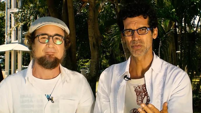 Jackson Costa e João Miguel articulam possível diálogo entre Jesus e Bispo (Foto: TV Bahia)