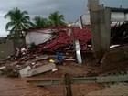 Imóvel desaba em São José do Egito após maior chuva de 2016 em PE