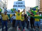 Manifestantes protestam em SC contra posse de Lula como ministro