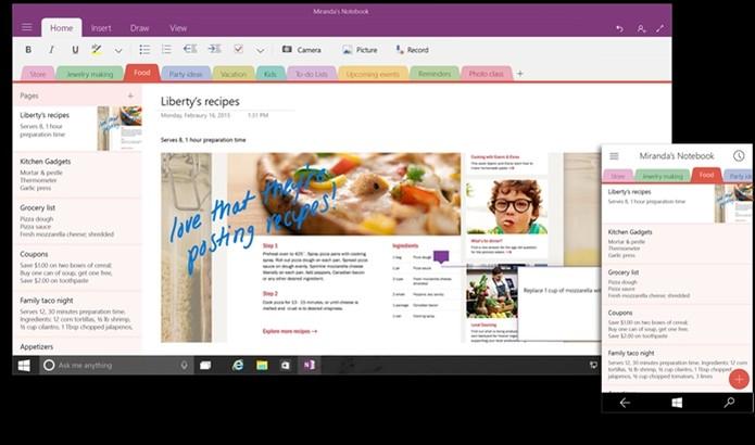 OneNote para Windows 10 (Foto: Divulgação) (Foto: OneNote para Windows 10 (Foto: Divulgação))