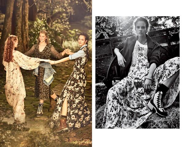 Os vestidos florais viram peça statement dos looks da estação (Foto: Gustavo Zylbersztajn (SD MGMT) / Edição de moda: Larissa Lucchese)