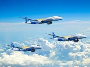 """Embraer lança """"E2"""", a segunda geração de E-Jets (Foto: Divulgação/Embraer)"""