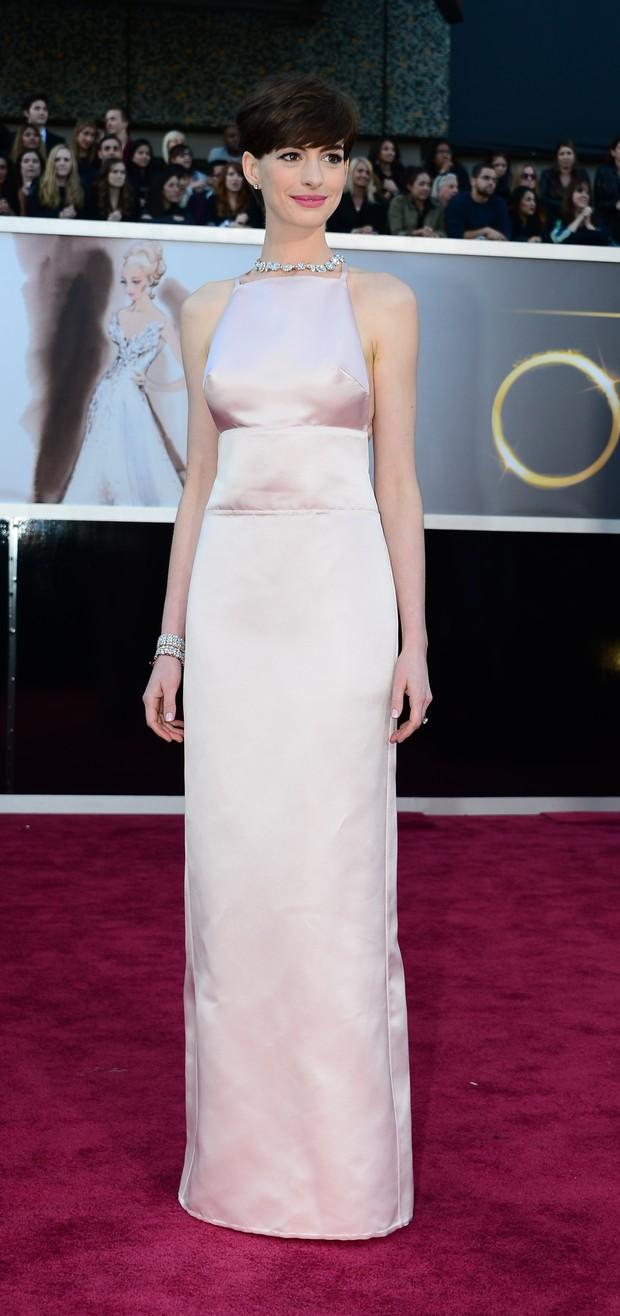 Anne Hathaway no Oscar (Foto: AFP / Agência)