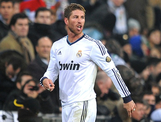 Sergio Ramos expulso na partida do Real Madrid (Foto: Getty Images)