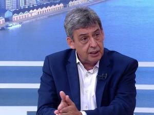 Sebastião Melo (PMDB) concedeu entrevista ao Jornal do Almoço (Foto: Reprodução/RBS TV)