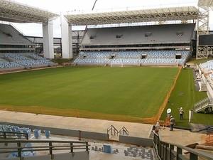 Gramado da Arena Pantanal março 2014 (Foto: Claudio Godoy/World Sports)