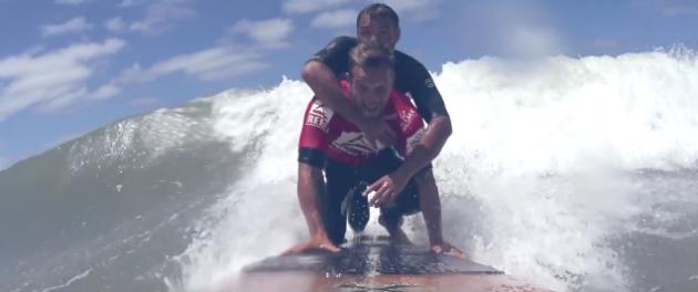 Passeri realiza sonha de surfista que sonhava em ser profissional, mas ficou paraplégico