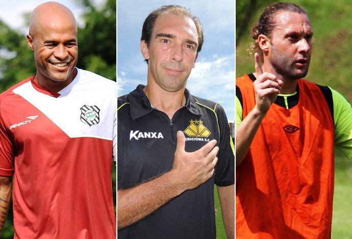 montagem  'veteranos' do Campeonato Catarinense (Foto: Editoria de Arte)