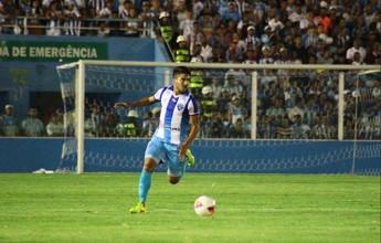 Surpresa no Paysandu, Crystian comemora o 1º gol como profissional