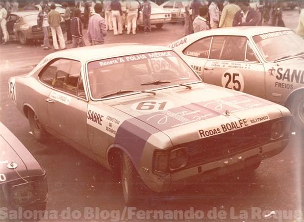 Os Opalas cariocas no Autódromo de Jacarepaguá, em 1977. (Foto: Divulgação/Fernando La Roque)
