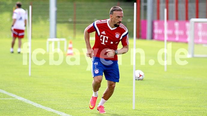 Ribery treino Bayern (Foto: Reprodução / Site oficial Bayern de Munique)