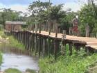 Defesa Civil constrói pontes em áreas alagadas em Itacoatiara, no AM