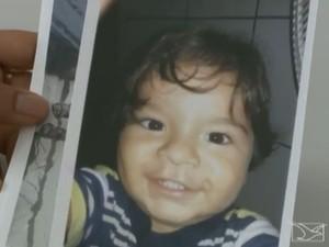 Bebê desaparecido no Maranhão (Foto: Reprodução/ TV Mirante)
