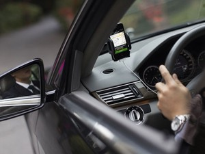 Carro de motorista que usa o Uber, serviço alternativo de transporte alvo de críticas de taxistas. (Foto: Divulgação/Uber)
