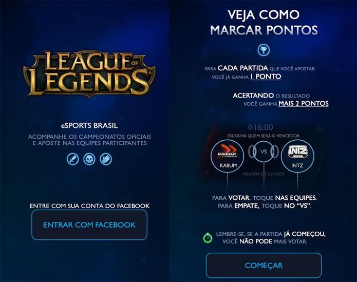 Aplicativo eSports Brasil leva apostas ao cenário de League of Legends (Foto: Divulgação)