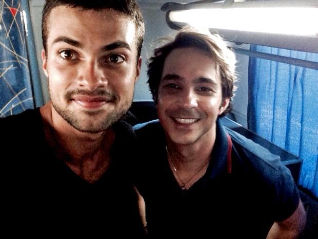 Ator faz selfie com Conrado Caputo, o Pepito (Foto: Arquivo Pessoal)