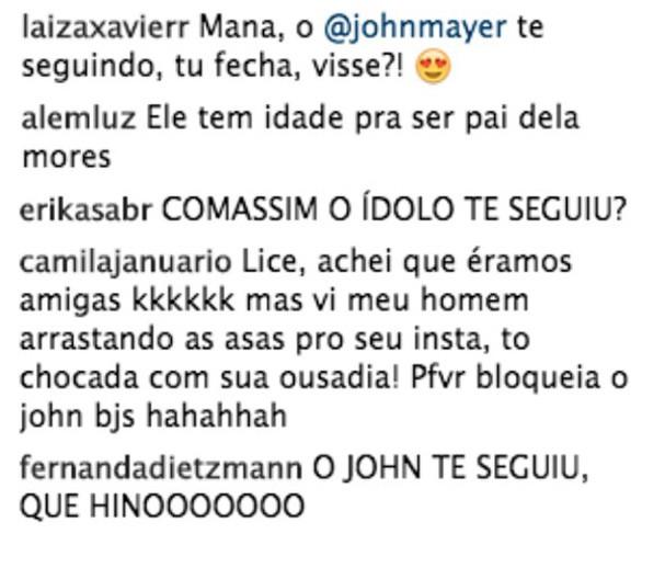 Fãs piram nos comentários  (Foto: Reprodução/Instagram)